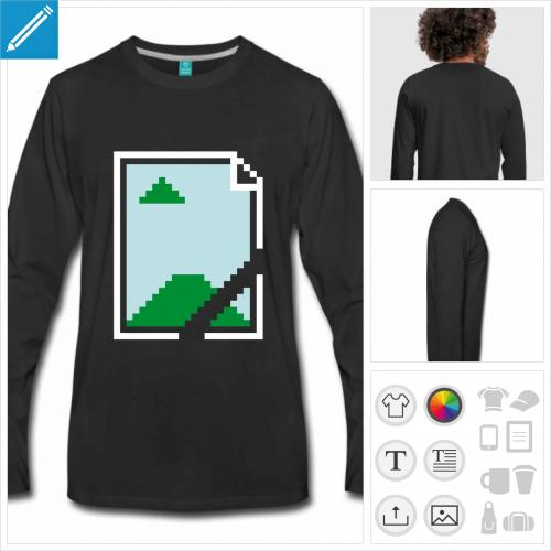 t-shirt pour homme humour geek à créer en ligne