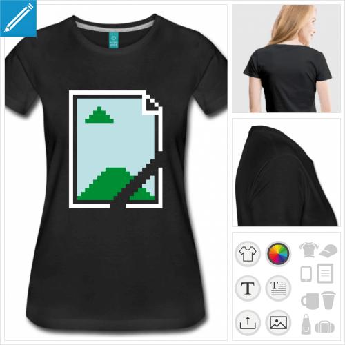 t-shirt humour geek à créer en ligne