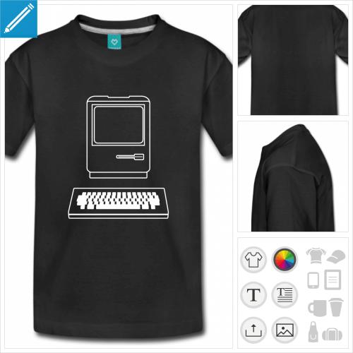 t-shirt basique informatique personnalisable