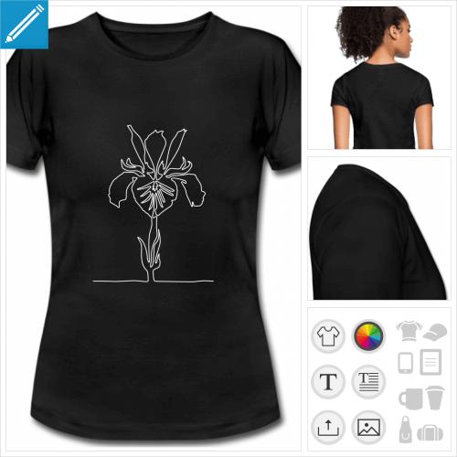 t-shirt iris trait à créer en ligne