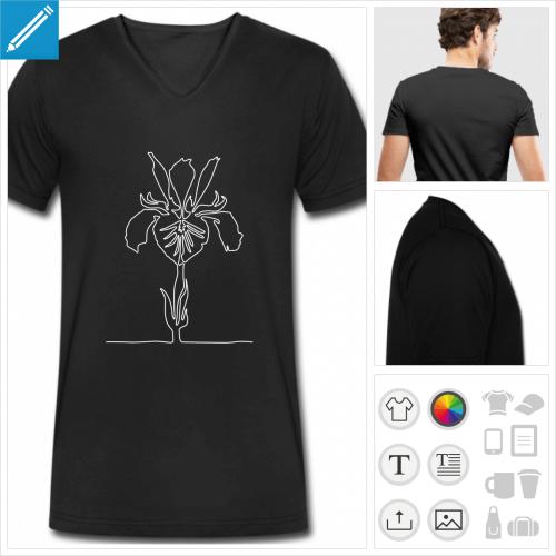 t-shirt fleur à personnaliser et imprimer en ligne
