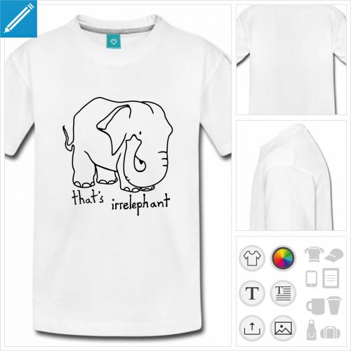 t-shirt basique irrelephant personnalisable
