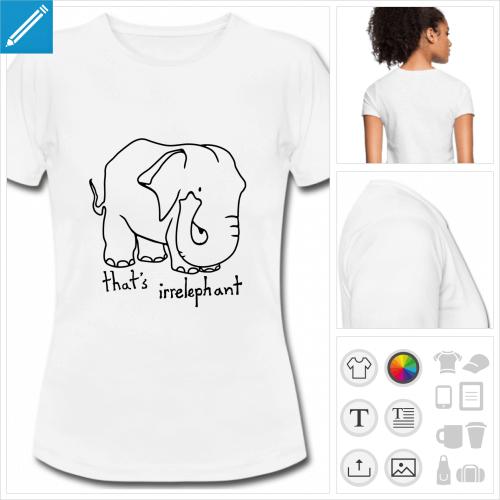 t-shirt simple blague personnalisable, impression à l'unité