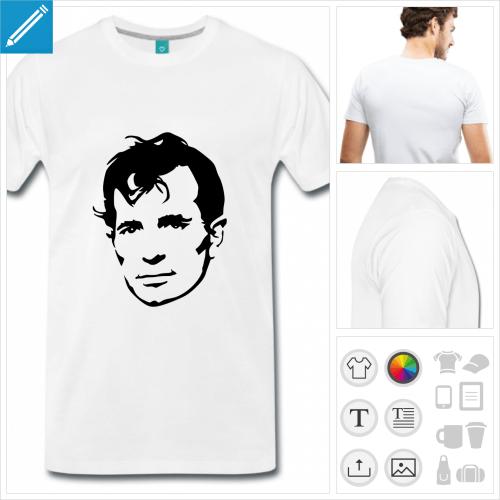 t-shirt homme livre personnalisable, impression à l'unité