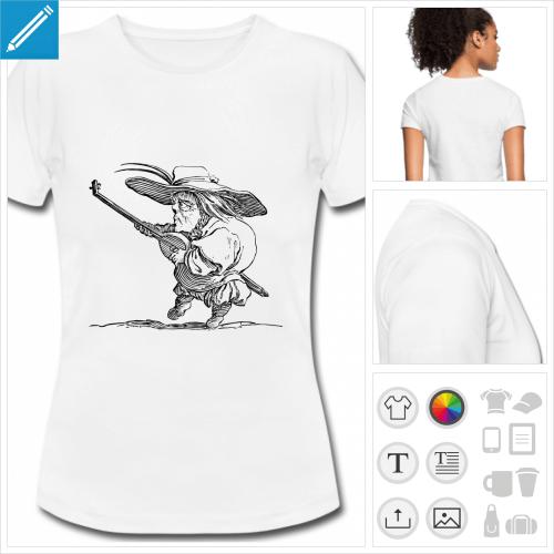 t-shirt blanc luth à personnaliser en ligne