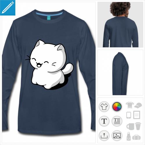 tee-shirt chat kawaii à créer soi-même