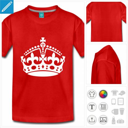 t-shirt ado keep calm à personnaliser, impression unique