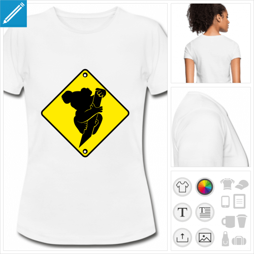 t-shirt femme panneau Australie à imprimer en ligne