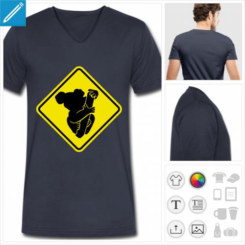 t-shirt panneau à personnaliser en ligne
