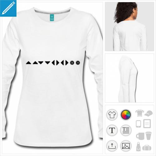 t-shirt femme jeu vidéo à créer en ligne