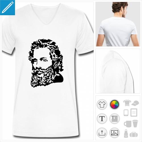 t-shirt homme Herman Melville à personnaliser en ligne
