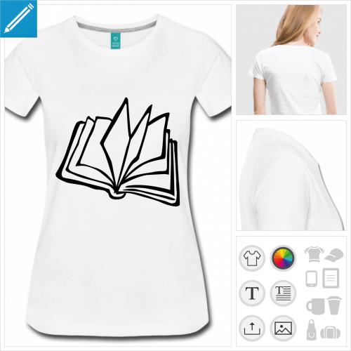 t-shirt manches courtes lire à personnaliser en ligne