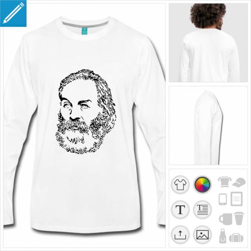 t-shirt pour homme littérature à personnaliser, impression unique