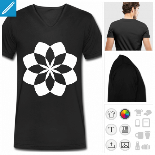 t-shirt homme lotus à imprimer en ligne