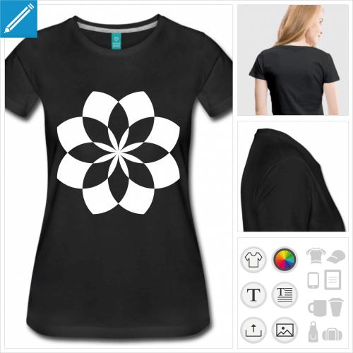 t-shirt simple lotus à personnaliser et imprimer en ligne