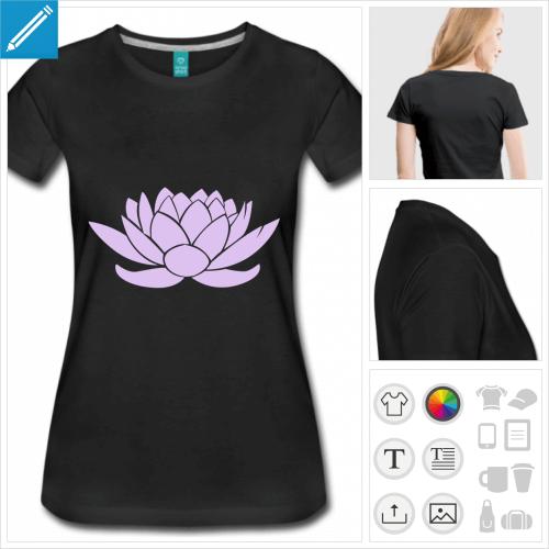 t-shirt femme lotus personnalisable