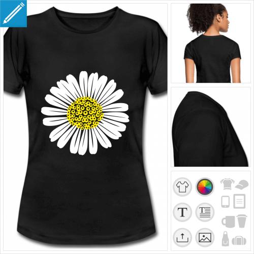 tee-shirt marguerite à imprimer en ligne
