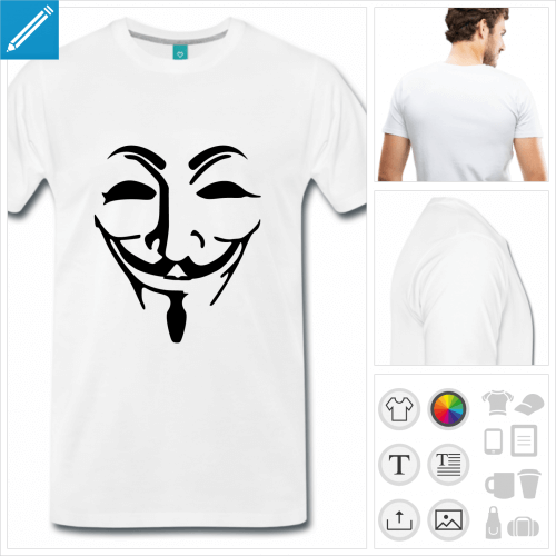 t-shirt anonymous personnalisable