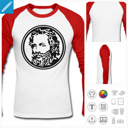 t-shirt Melville à personnaliser et imprimer en ligne