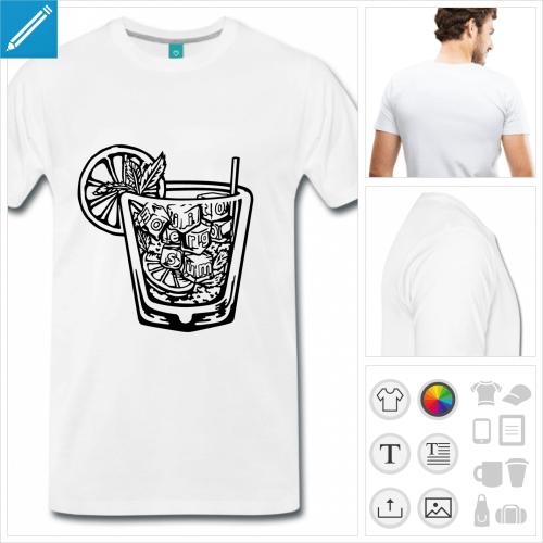 t-shirt mojito à personnaliser et imprimer en ligne