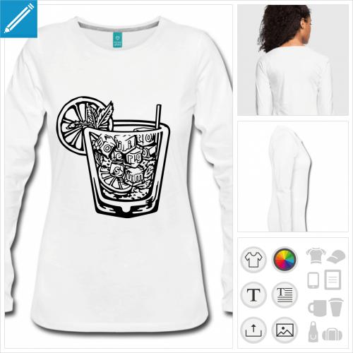 t-shirt femme alcool à imprimer en ligne