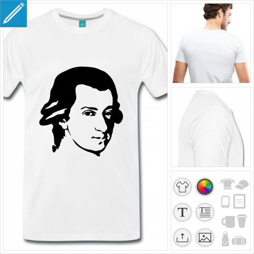 t-shirt simple musicien personnalisable