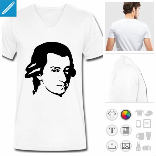 t-shirt homme musique à personnaliser, impression unique