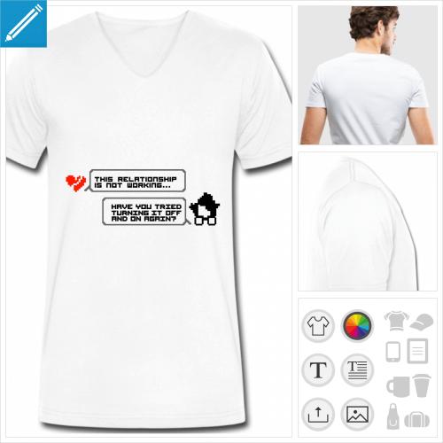 t-shirt it crowd à personnaliser, impression unique