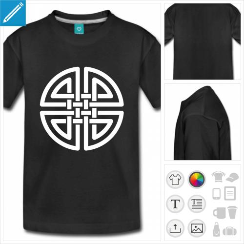 t-shirt manches courtes noeud celte à personnaliser et imprimer en ligne