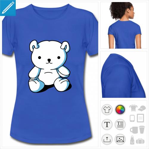 t-shirt bleu roi kawaii à créer en ligne