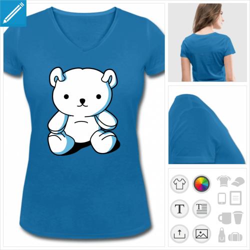 t-shirt kawaii à personnaliser et imprimer en ligne