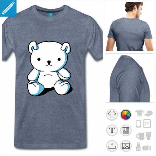 t-shirt premium kawaii à créer en ligne
