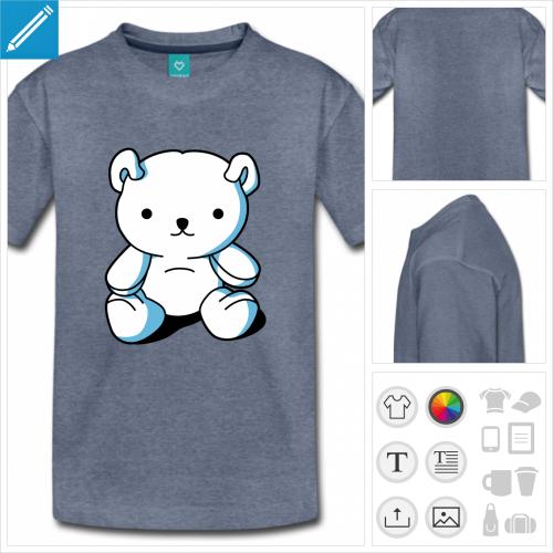 t-shirt basique nounours à créer soi-même