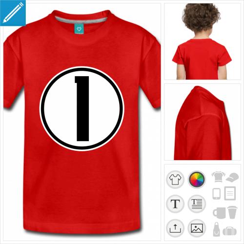 t-shirt pour enfant Numéro 1 à personnaliser