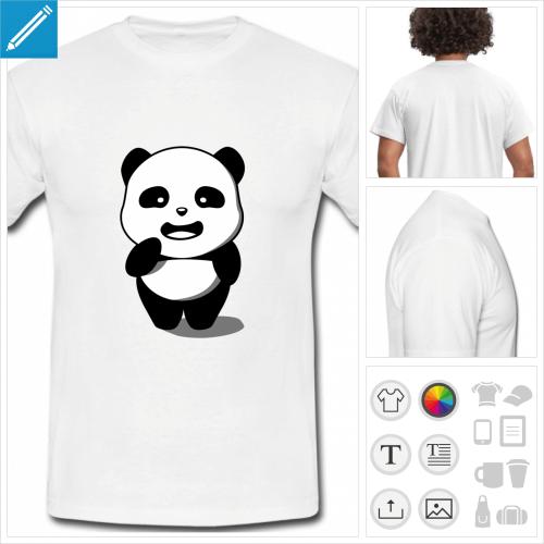 t-shirt homme panda à créer soi-même