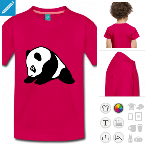 t-shirt basique panda kawaii à personnaliser
