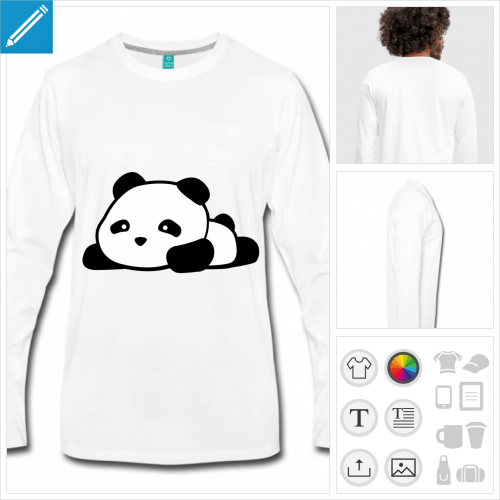 t-shirt panda kawaii à imprimer en ligne