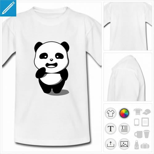 t-shirt ado panda à imprimer en ligne