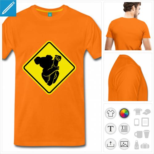 t-shirt premium panneau à créer en ligne