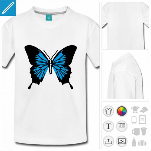 t-shirt pour ado papillon à personnaliser