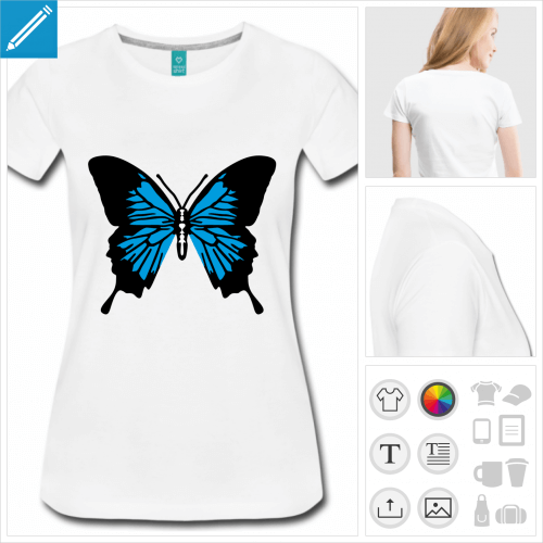 t-shirt simple papillon ailes à créer soi-même