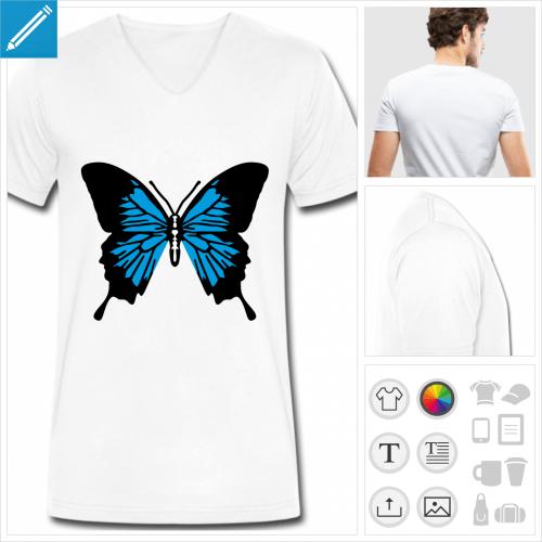 t-shirt papillon à personnaliser en ligne