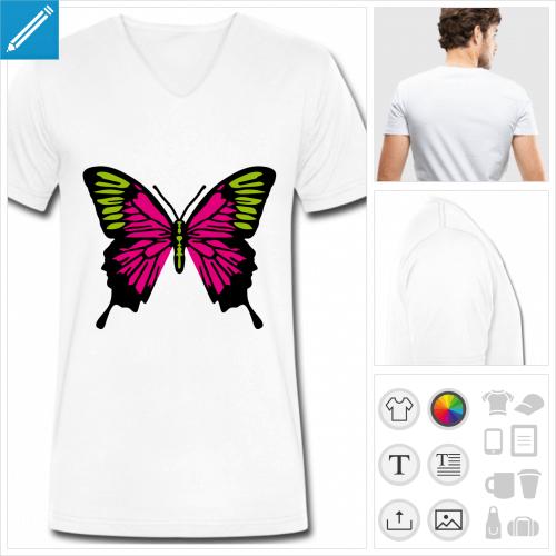 t-shirt ailes de papillon personnalisable, impression à l'unité