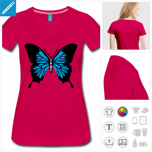 t-shirt papillon personnalisable