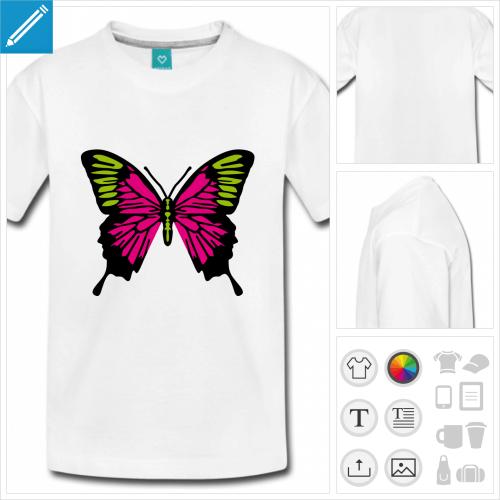 t-shirt simple papillon à créer en ligne