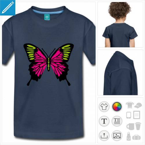 t-shirt simple papillons à créer en ligne