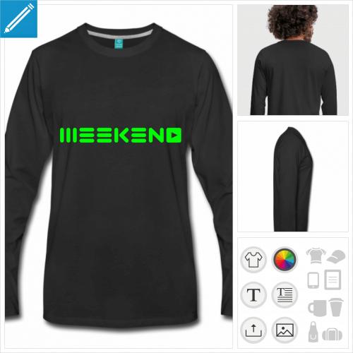 t-shirt weekend à personnaliser, impression unique