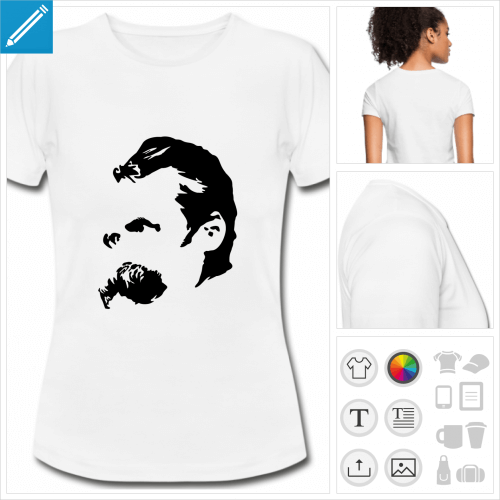 t-shirt femme Friedrich Nietzsche à personnaliser en ligne