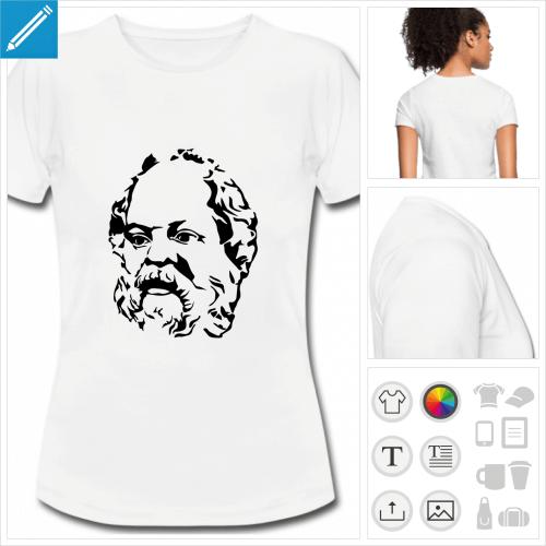 t-shirt femme Socrate à créer soi-même