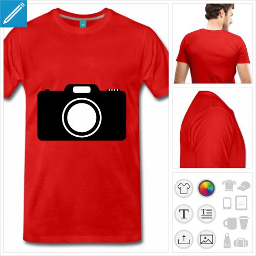 t-shirt appareil photo à personnaliser en ligne